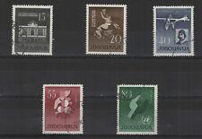 Yougoslavie 1960 anniversaires célèbres 5 timbres oblitérés  /T2131