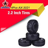 "4x AUSTAR AX-3021 2.2"" Rubber Tires Tyre for RC 1/10 Axial SCX10 90056 90045 Car"