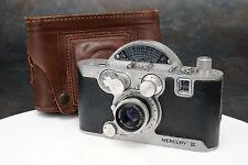 - Univex Mercury II Half Frame 35mm Camera, 35mm f2.7 Lens USA Made