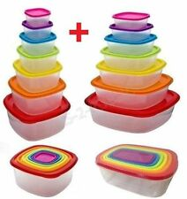 PLASTIC FOOD  CONTAINER SET TUPPERWARE WITH LIDS 14PCS FOOD STORAGE LUNCH BOX