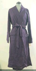 Gilligan And O'Malley Women's Bath Robe Dark Purple Size M/L Brand New Long