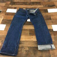 DETROIT DENIM CO Selvedge Denim Jeans 36x34 Handmade In USA Button Fly
