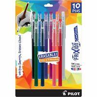 Pilot FriXion - Color Sticks - Pack of 10 - Assorted Gel Pens - 32454 - New