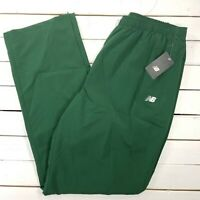New Balance NB All Conference Track Pants Mens 3XL Green Warm Up Ankle Zip NBGR2