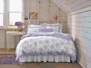 Rachel Ashwell Simply Shabby Chic Lavender Lilac Duvet Set KING Purple Ruffled