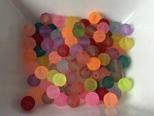 Glasperlen gefrostet 10 mm MIX 100 Stück Kugel Schmuck BEUTEL Perlen V231