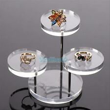 Acrylic Jewelry Display Necklace Bracelet Round Table Holder Stand Rack Case #S2