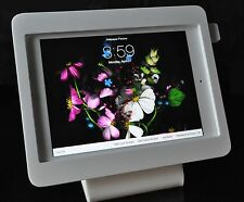 iPad 2/3/4 White Acrylic Security Stand for POS, Kiosk, Store Show Display