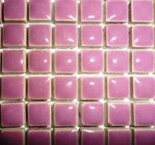 81 Mini Azulejos de mosaico de cerámica glaseada 10 Mm-Pretty púrpura