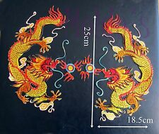 Pair chinese Dragon Iron Sew Embroidered Patch Badge Patches Logo Badges 421