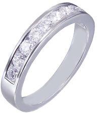 Diamonds Band Anniversary Half Eternity 0.75ctw 14k White Gold Round Cut Channel