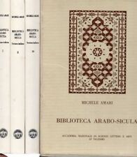 BIBLIOTECA ARABO-SICULA M.AMARI ACC.NAZ.DI SCIENZE LETTERE ARTI 3 VOL.+COF(IA62)