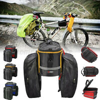 Cycling Rear Rack Seat Saddle Bag Bike Tail Storage Pannier Pouch Bicycle Bag US
