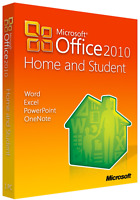 Microsoft Office 2010 Home and Student- Software DVD, Activation Key, 1 User