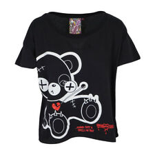 NEWBREED EVIL TED WOMENS OVERSIZED CROP TOP