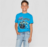 NEW Boys' The LEGO Movie 2 Short Sleeve T-Shirt - Blue - Size M - EVEN AWESOMER