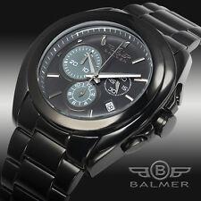 NEW Balmer Swiss Made Chronograph Gallardo Mens Watch Blackdial with Black Band