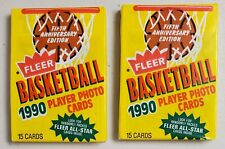 1990-91 Fleer Basketball Lot of 2(Two) New Unopened Sealed Packs