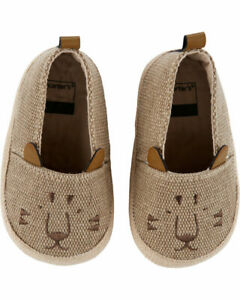 Carter's Tiger Brown Espadrille Baby Shoes New NWT Size: 3-6 Months