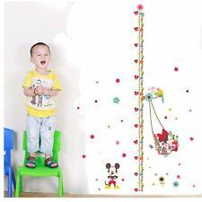 Disney Mickey Height Chart Wall Sticker Decals Art Mural Kids Room Nursery Decor