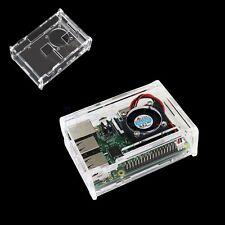 Transparent Caso Caja Carcasa Cubierta Protector Para Raspberry Pi 2/3/B+ SA