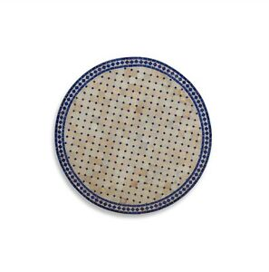 """Blue and White Tile Table Top 30"""" x 2"""" 484016-dni"""