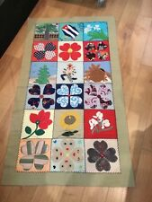 VINTAGE AUTHENTIC CUBAN VERY COLORFUL QUILT PANEL MUST SEE NO RESERVE WOW