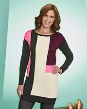 Womens Colour Block Wine Tunic JD Williams UK 12-14