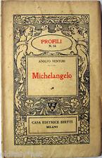 1939 Adolfo Venturi - MICHELANGELO - Profili Casa Editrice Bietti - n°64