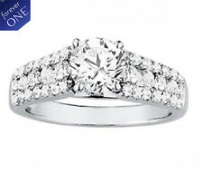 3.10 CT FOREVER ONE MOISSANITE ROUND MICRO PAVE CROSS BAND WEDDING SET RINGS
