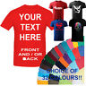 CUSTOM PERSONALISED DESIGN YOUR OWN PRINTED T SHIRTS-UNI PARTY FUNNY JOKES TEES