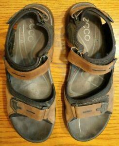 Ecco Yucatan Receptor Sport Sandals Bison Black Euro Size 47 US Size 13-13.5