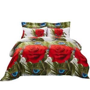 6 Piece Queen size Duvet Cover Set Fitted Sheet Luxury Bedding Dolce Mela DM711Q
