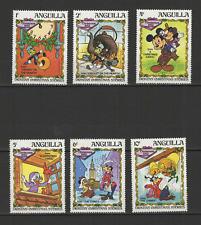 Anguilla 6 timbres neufs Walt Disney Mickey Donald Cricket /T3062