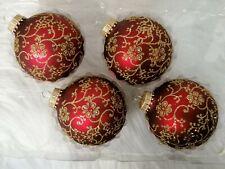 Christbaumkugeln Weihnachtskugel Christbaumschmuck Krebs Glas Lauscha rot gold