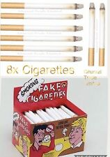 8x Pack Fake Smoke Effects Lit Cigarettes Theatrical Stage Novelty Joke Pranks
