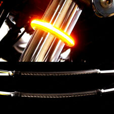 2PC LED 39mm-41mm Fork Turn Signal Kit&Smoked Lens For Harley Victory D10