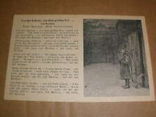 orig. Soldaten Liederkarte Lili Marleen - Vor der Kaserne