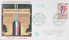 ENVELOPPE PREMIER JOUR - 9 x 16,5 cm - ANNEE 1965 - VICTOIRE 1945