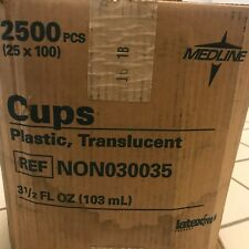 New listing 2500 Count - Medline Translucent Disposable 3.5 oz (103 ml) Plastic Cups See Pic