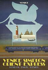 Affiche chemin de fer Orient-Express - Venise