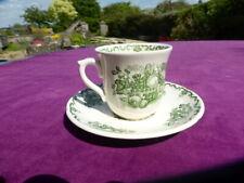 Mason's Green Fruit Basket Tea Cup and saucer