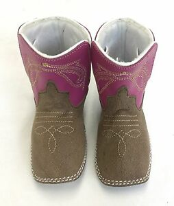Baby Bean by Anderson Bean Pink Infant Boots, Style B7000