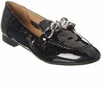 Donald Pliner Women's Nolin Chain Loafer Flats Shoes - Size 6, Color - Black