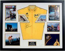 Chris Froome original firmada a mano camiseta amarilla del Tour de France Enmarcado AFTAL cert. de autenticidad