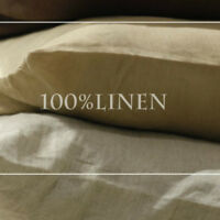 100% Linen Pillow Case Cover Envelope Closure Comforter Flax Bedding Pillowcase