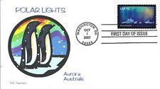 POLAR LIGHTS AURORA AUSTRALIS STAMP DESIGNER CHRIS CALLE DESIGNED