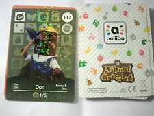 CARTE AMIIBO ANIMAL CROSSING 112 DON NEUF Envoi Rapide 3DS SERIE 2