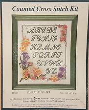 Kit Punto De Cruz-Floral Alfabeto-Fleur De Lis-Ancla