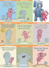 Mo Willems Elephant and Piggie 8 Book Childrens Collection Set with Plush Toys!!